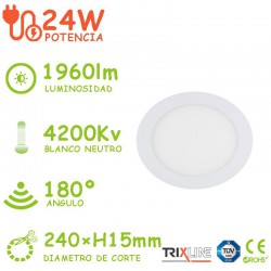 PACK DE 5 DOWLIGHT LED 24W CIRCULAR