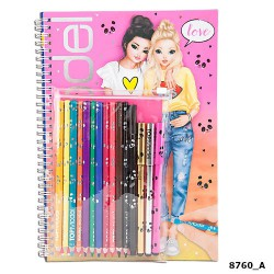 Top model, cuaderno para colorear y crear