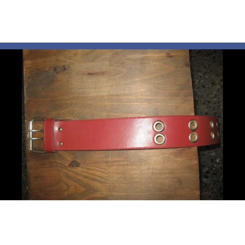 Cinturón Rojo con redondeles