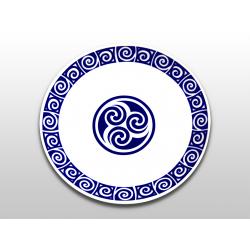 Plato de 20 cm con símbolo celta